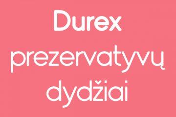 Durex prezervatyvų dydžiai